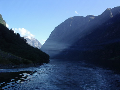 haze in the fjord