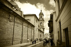La Candelaria vista hacia la Plaza de Bolivar / Bogot (P Lievano) Tags: street city travel light sun white man black color building history texture luz clouds america photoshop canon landscape avenida calle interesting arquitectura ancient colombia bogota 300d bogot edificio gray catedral iglesia ciudad line nubes construccion p urbano block fotografia digitalrebel fachada creatividad metropolitan historia antiguo hombre candelaria lineas bloque espacio geometria composicion colombiano escala plazadebolivar colombianos metropoli bogotadc bogotcolombia centrodebogota ciudaddebogota ciudaddebogot
