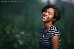 Beautiful girl (Konstantin Sutyagin) Tags: portrait green nature girl smile smiling happy twilight dusk african teen american teenage