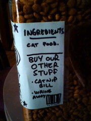 Ingredients of Abbie the Cat's All-American Cat Food