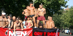 Madrid Pride 2005 (fusion68k) Tags: 2005 madrid gay shirtless people man sexy male men guy beautiful pentax chest handsome marcia hunk glbt guys pride males hottie trunks gaypride stud studs studly sfilata optios parata madridpride2005 file:name=imgp1970jpg