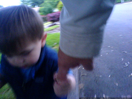 the single-finger handhold, ideal for balancing while walking atop on the curb - DSC01313