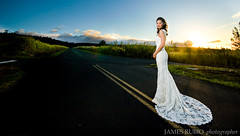 Irena (James Rubio) Tags: road wedding sunset dress peter crossroad irena paauilo irenapeterwedding