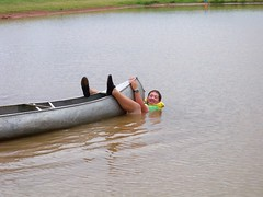 Jordan on the Bottom of the Canoe