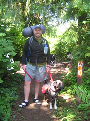 On the Trail with Cinder (Poor Yorick) Tags: camp porter cinder olympicmountains