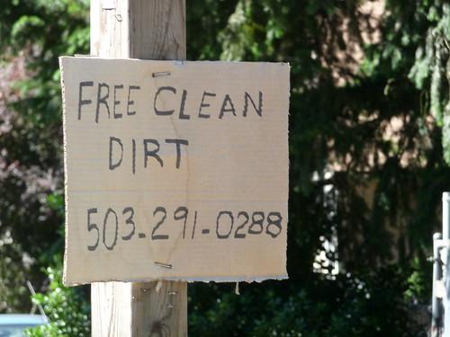 This is broken: Free Clean Dirt