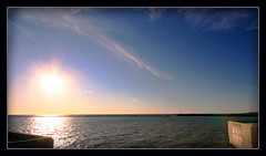 For You To Taste (redmann) Tags: sunset sky sun lake ontario canada water canon pier sigma wideangle greatlakes lakehuron greatlake goderich sigma1020mm 10mm canon400d aplusphoto