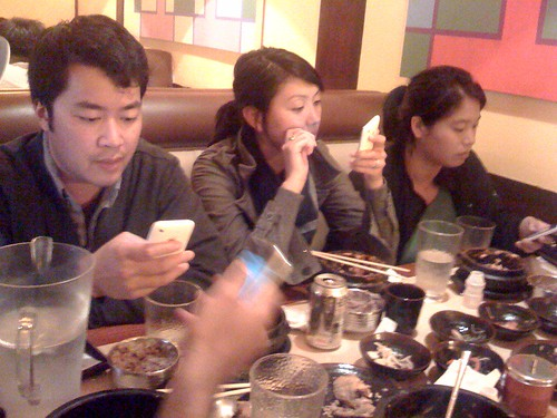 family dinner, now with more iphone