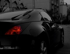 The Black Night Z350     (Aziz J.Hayat   ) Tags: light red black home car sport friend nissan 350 z kuwait wight aziz hayat q8 photomania  omran   abwab