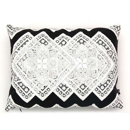 doily diamonds pillow