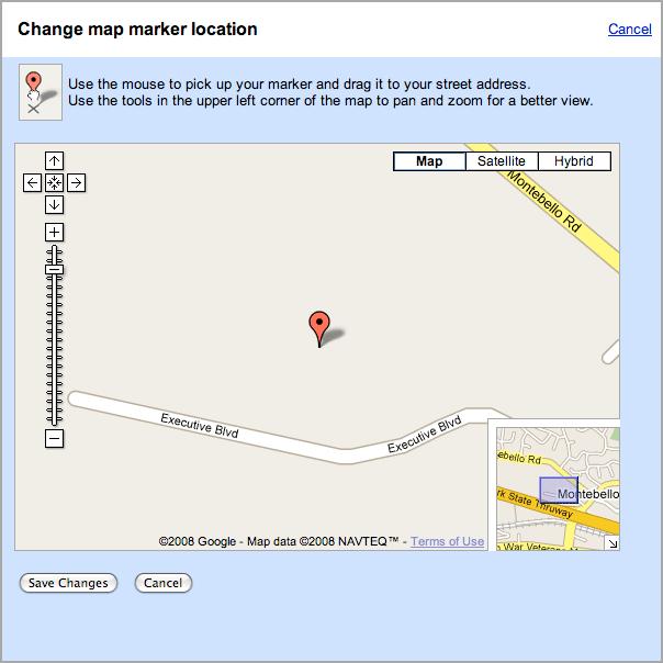 Google Maps Marker Location