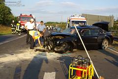 Schwerer Verkehrsunfall A3 Frankfurt 03.08.08