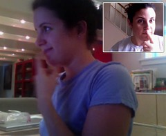 my sister and i fool around with ichat (alist) Tags: sisters ichat alist robison alicerobison ajrobison susanellsworth