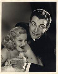 Robert Taylor and Jean Harlow (Stella Sabata comes to Kill!) Tags: clock beauty smile fur couple handsome actress actor silverscreen jeanharlow roberttaylor peroxideblonde babyjean perfectprofile