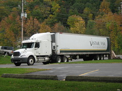 Freightliner Truck from Vistar / VSA (William Wilson loves Belinda) Tags: newyorkcity travel bridge winter food brown white snow ny macro building male green tower history fall love nature water architecture female night truck portraits work season fun niagarafalls landscapes buffalo travels funny driving action trucker towers tan niagara semi journey transportation trucks interstate job trucking reefer 18wheeler westernnewyork wny olean freightliner travelingtolls
