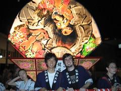 Paku and I pull our float (jrkester) Tags: japan hirosaki 2008 neputa
