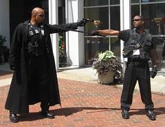 Otakon 2008: Blade Stand-off (MorpheusBlade) Tags: anime costume cosplay manga otakon comicon spiketv daywalker bladetheseries bladehouseofchthon otakon2008