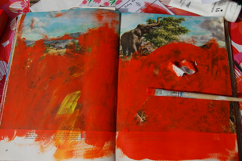 How to create layers in your art journal