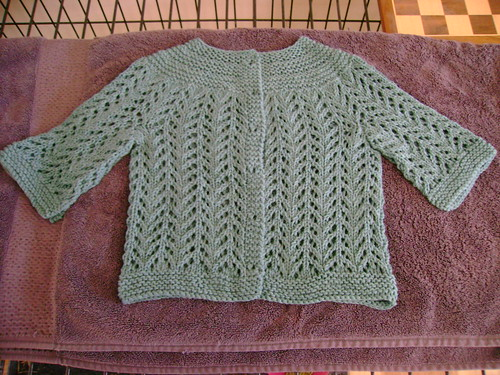 february baby sweater blocking