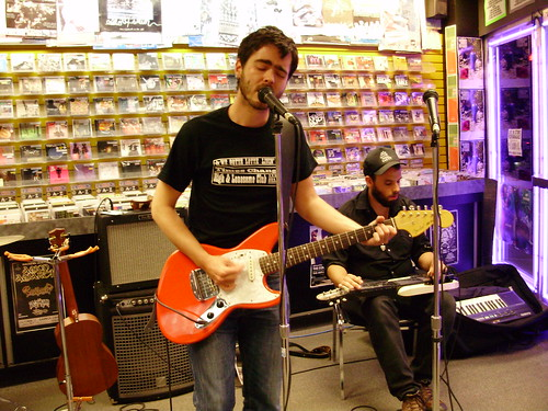 The Burning Hell live! in-store performance at Music Trader on August 29 2008