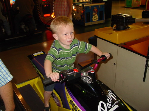 Nate on Video game ride
