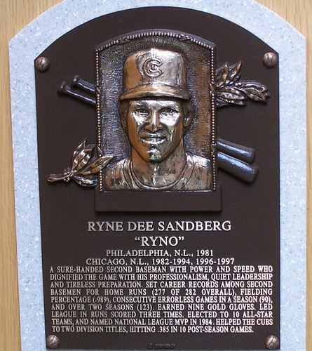 Ryne Sandberg's plaque, Hall of Fame. Cyberlemur/Flickr
