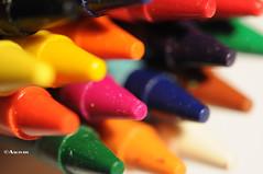 Colorful Crayons (Sarah Al-Sayegh Photography | www.salsayegh.com) Tags: color colour nikon box kuwait crayons d300 of macrolightstudio nikond300 grouptripod blackpinkyellowgreenorange