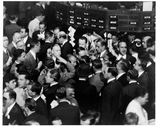 a picture of traders on the stock exchange circa 1936