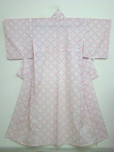 Sweet pink transparent wool kimono