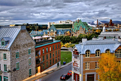 La base ville - Quebec city (Nino H) Tags: city canada fall skyline architecture clouds automne buildings quebec qubec capitale nuages hdr ville nationale basse immeubles btiments garedupalais photoquebec abeautifulscene gettyimagescanada