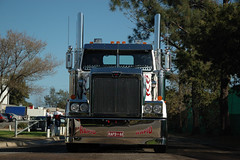 AT1426 (Australian Trucks Archive) Tags: road charity travel cruise tractor travelling industry animals kids rural truck balloons out children fun toys prime for star drive big highway soft industrial colours ride diesel south country transport group australian horns australia semi special kind machinery event riding lorry rig transportation western disabled land vehicle outback trucks trailer heavy sick fundraising convoy bitumen fuel services mover trucking helping semitrailer novita hearted childrens kids truckies convoy