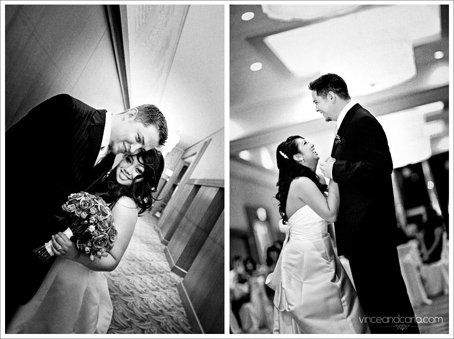 Dual Portrait wedding dance bride groom candid