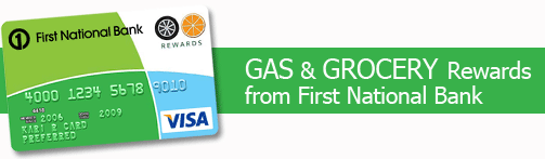 FNBO Gas & Grocery Rewards Card 3% Cashback