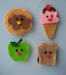 Felt Magnets (ChrisCreatures) Tags: apple pancakes handmade magnets icecream kawaii peanutbutterandjelly feltfood chriscreatures