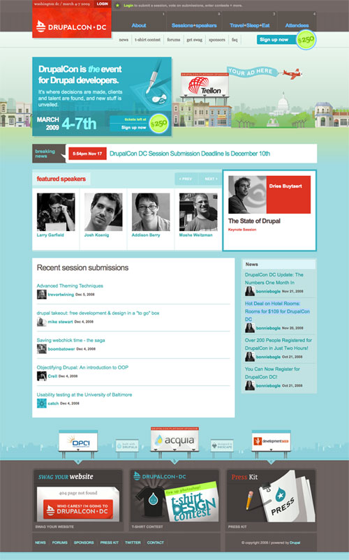 DrupalCon DC Website Named One of the Best Designed CSS Sites of 2008 ...