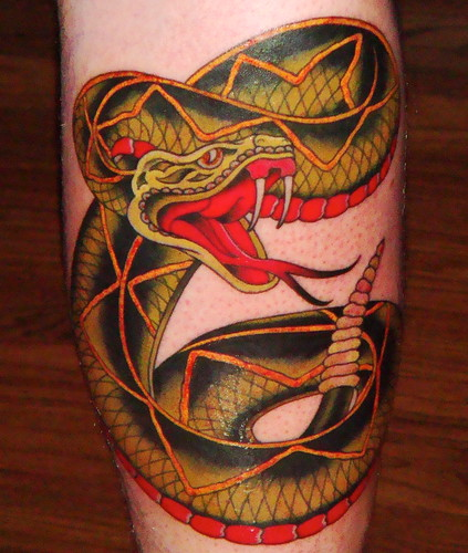Sailor Jerry Rattlesnake Tattoo