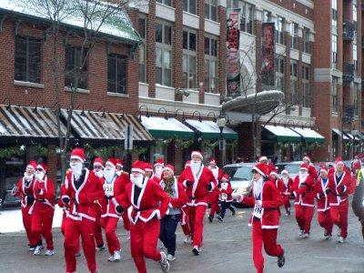 Santa Run Begins