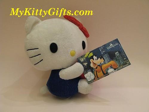 Hello Kitty holding Disneyland Ticket