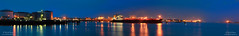 Twilight Port Panorama (Peet de Rouw) Tags: water port twilight marine ship cargo maritime oil tanker vopak rozenburg peet europoort portofrotterdam calandkanaal denachtdienst peetderouw peetderouwfotografie