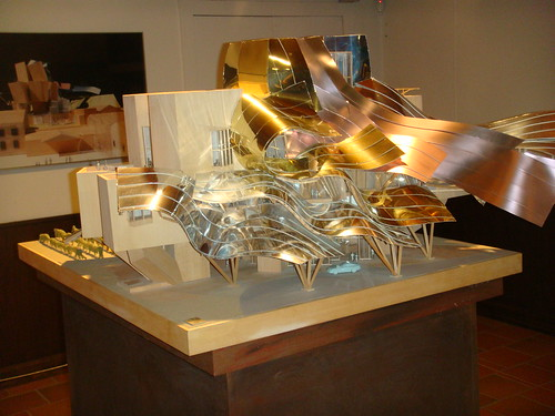Maqueta del Hotel Marqués de Riscal de Frank Gehry