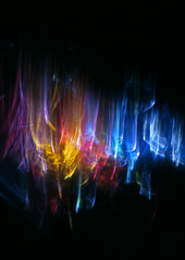 And Glory Shone Around (Reciprocity) Tags: light abstract film glass colors analog 35mm colours patterns plastic refraction recursive analogue lensless caustics photogram diffraction nikomat lightart experimentalphotography reciprocity refractograph fujichromet64 gallery2c s828 bs179ls119