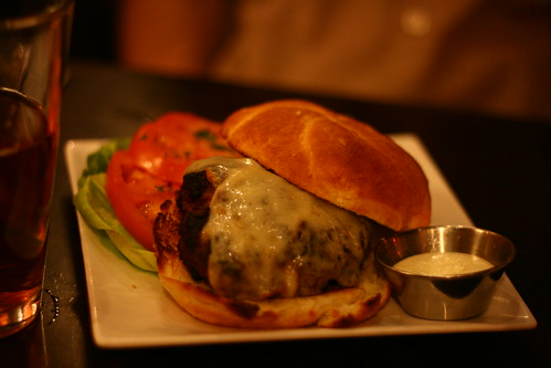 Burger with Mozzarella and Garlic Aioli
