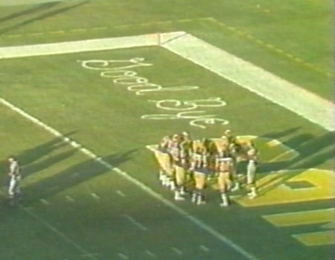December 16, 1979 - Rams final game in Los Angeles end zone decoration 3130249519_690a80c536_o