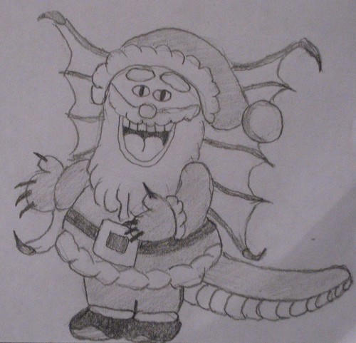 Alligator Dragon Santa