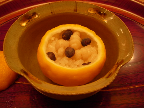 Yuzu-steamed rice