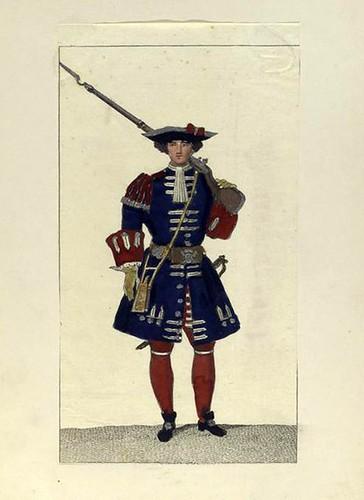 022-Guardia de la infanteria castellana. Guardia Valona año 1717