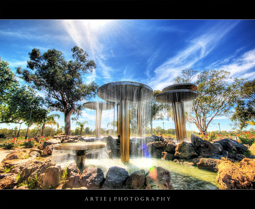 Fountain of Renmark, South Australia :: HDR