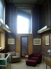 Corner space (caprilemon) Tags: wood usa brick window architecture corner concrete reading library newhampshire exeter northamerica studying woodpaneling louiskahn exeterlibrary reinforcedconcrete philipsexeteracademy