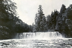 Ironwod MI UP Big Presque Isle Falls RPPC LL Cook L-2360 Postmarked 1953 (UpNorth Memories - Donald (Don) Harrison) Tags: heritage history up vintage michigan postcard memories postcards upnorth upperpeninsula upnorthmemories donharrison rppc puremichigan davetinder
