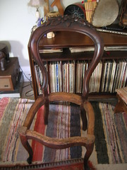 Victorian chair without seat